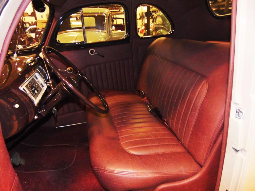 White Car - Red Upholstery Interior 1