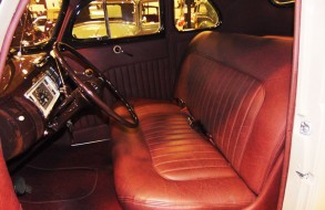 White Car - Red Upholstery Interior 1