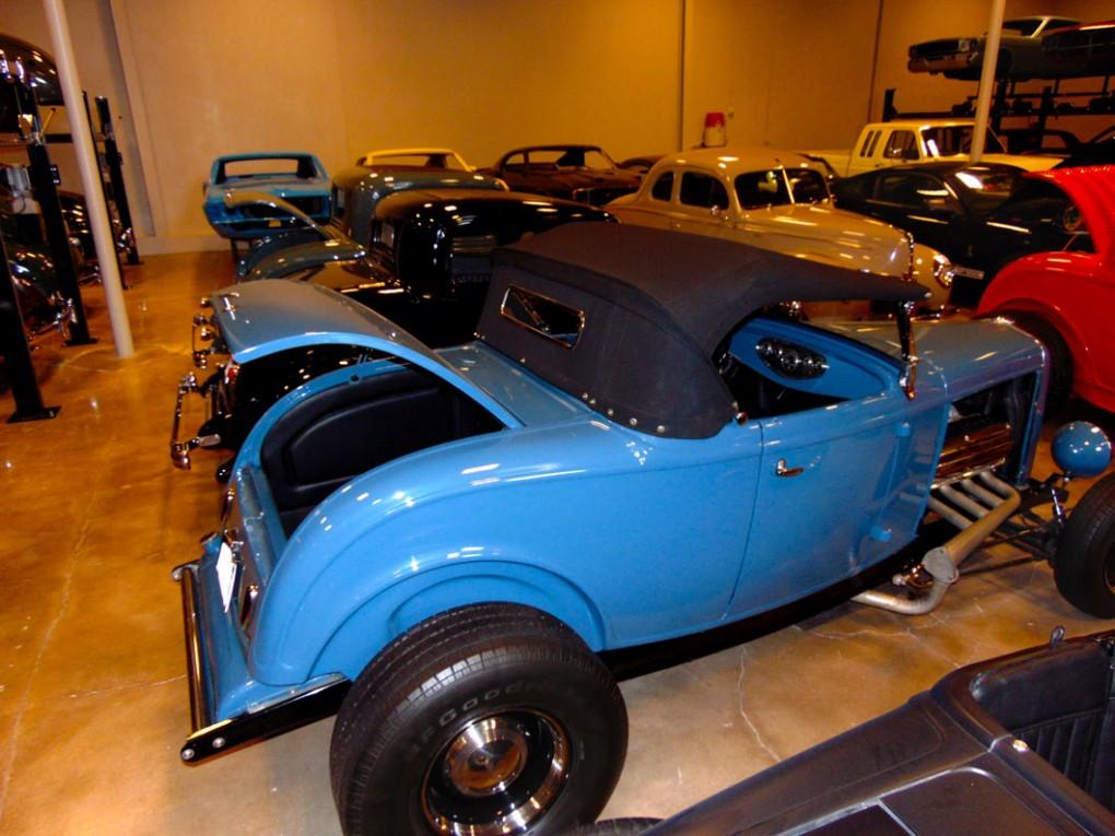 Blue Convertible Trunk